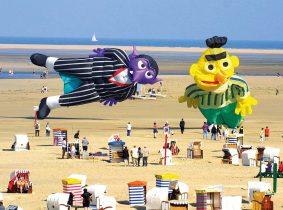 Drachenfest Strand Borkum