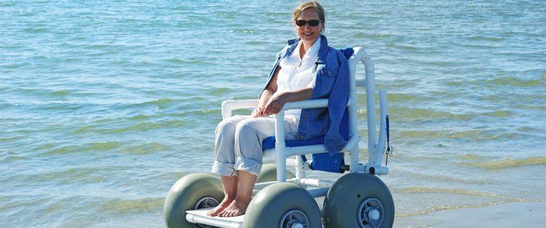 Rollstuhlfahrer Borkum